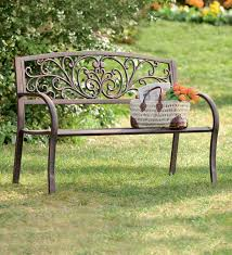 garden benches metal. Fine Benches Blooming Garden Metal Bench And Benches T