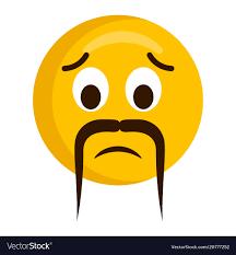 Sad Emoji With A Mustache