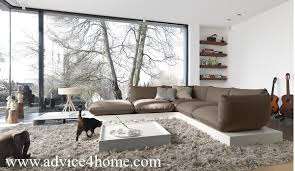latest room furniture. white wall and latest sofa design in living room with natural look furniture l