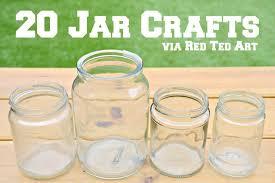 Glass Jar Decorating Ideas Mason Jar Crafts Red Ted Art's Blog 41