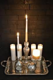 Diy Gold Candle Holders Mixed Metals New Years Eve Mantel Decorating Ideas Fox Hollow