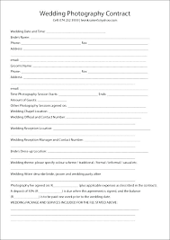 5 6 Wedding Photographer Contract Sample Best Templates For Google