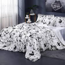19 momme marbling print silk duvet cover