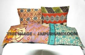 pillow covers 24x24. 24x24 xl set of 5 pillow covers vintage kantha throw pillows for couch sofa-jaipur 24x24 v