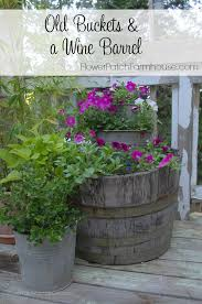 barrel garden. Gardening Planters Wine Barrel Bucket, Container Gardening, Repurposing Upcycling Garden