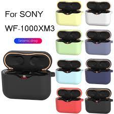 Ốp Tai Nghe Chụp Tai Dành Cho Sony WF 1000XM3 Ốp Lưng Tai Nghe Sạc Hộp Cho  Sony WF 1000XM3 Ốp Lưng Bảo Vệ Với Móc Khóa Chống chống Sốc|Earphone  Accessories