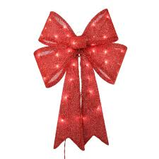 Lighted Holiday Bow Upc 029944474395 Home Accents Holiday Holiday Ornaments
