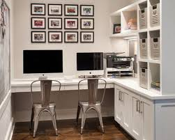 office makeover. Example Of A Transitional Builtin Desk Dark Wood Floor Home Office Design In New Makeover O