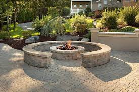 retaining wall block fire pit fire