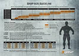 Gasp Clothing Size Chart Gasp 1 2 Lbs Hoodie 220449