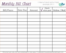 Monthly Bills Template Free And Bud Excel Spreadshe