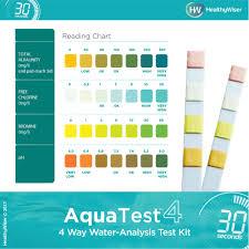 Pool Tester Chart Aquatest 4 Way Pool Spa Test Strips