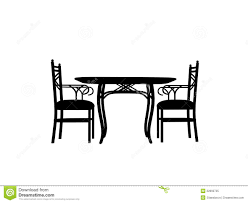 table and chairs clipart. pin table clipart silhouette #1 and chairs