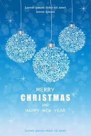 Christmas Snowflakes Pictures Merry Christmas Snowflakes Decorations Card In Winter Frost Vector Blue Beautiful Holiday Cards Snowing Blurry Background