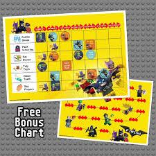 Childrens Reward Chart Instant Download Digital Download Personalised Lego Batman Design