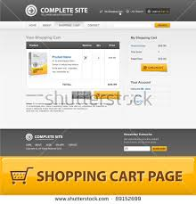 shopping cart web shopping cart web design template grey stock vector 2018 89152699