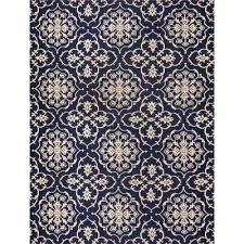 aurora grain and navy 8 ft x 10 ft indoor outdoor area rug