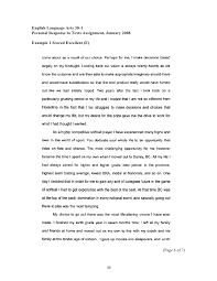 personal response essay co personal response essay examples