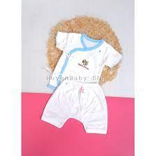 Bộ quần áo sơ sinh Baby Moon màu trắng ngắn tay cho bé từ 0 - 3 tháng -  2538555713