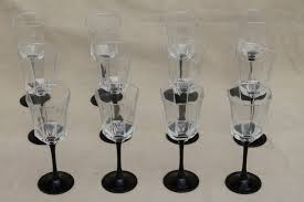 12 octime arcoroc wine glasses or water goblets black