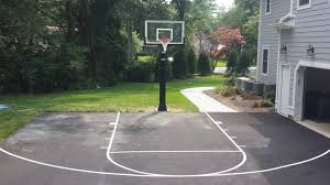 basketball painting on driveway
