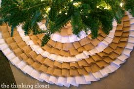 D.I.Y. No-Sew Burlap Ruffle Christmas Tree Skirt — the thinking closet