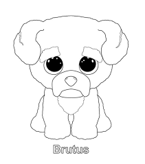 Beanie Baby Elephant Coloring Pages