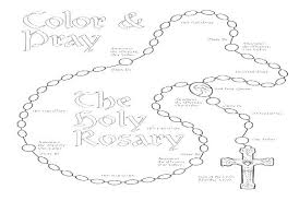 Ingenious Inspiration Rosary Coloring Page 40 Pages The Mysteries Of
