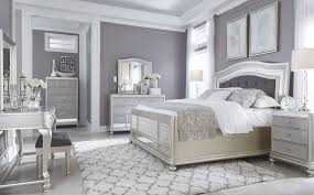 Silver Bedroom Furniture Coralayne Silver Bedroom Set From Ashley B650 157 54 96