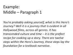 essay structure narrative example middle