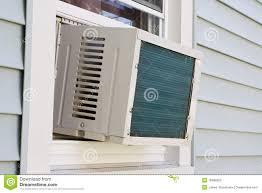 Fenster Eingehangene Klimaanlage Stockfoto Bild Von Sommer
