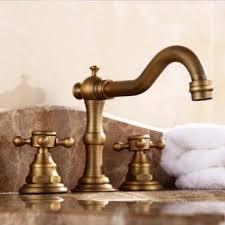 antique brass bathroom faucet. Widespread Antique Brass Bathroom Faucet Basin Mixer Tap Deck Mount Dual Handles H