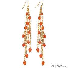 design 21825 orange carnelian cha cha earrings