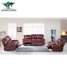 genuine leather sofa set with 5 manual