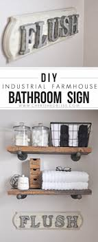 Creative diy bathroom ideas budget Bath Diy Bathroom Decor Ideas Industrial Farmhouse Bathroom Sign Cool Do It Yourself Bath Ideas Diy Joy 31 Brilliant Diy Decor Ideas For Your Bathroom