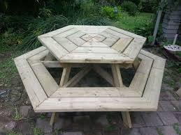 wooden outdoor furniture plans. 13 Free Picnic Table Plans In All Shapes And Sizes Ideas Of Wooden Outdoor Designs Furniture