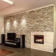 rustic wall tiles brick effect wall
