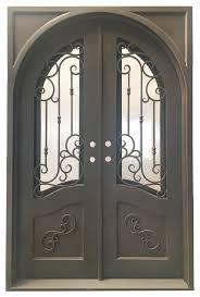 64 x96 exterior wrought iron door with low e double glass mediterranean front doors by mcm3 llc