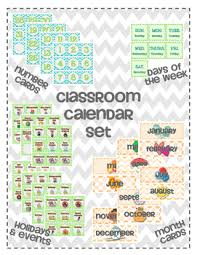 Calendar Pocket Chart Set Classroom Calendar Set For Pocket Chart