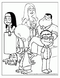 Small Picture American Dad Coloring Pages Coloring Home