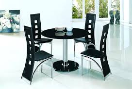 round dining table and 4 chairs planet black round glass dining table furniture with regard to