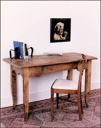 antique wood desks constructed from reclaimed pine wood