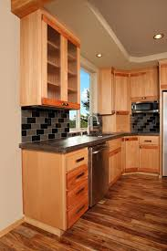 beech wood kitchen cabinets: thumb kitchen contemporary style beech with accent wood light color euro flair door reeded glass doors