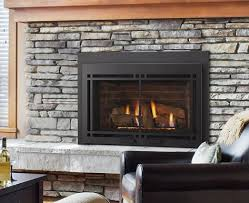 enjoy efficient heat and classic style with this black fireplace insert by monessen more than just a simple box with fuel hook up for natural gas this