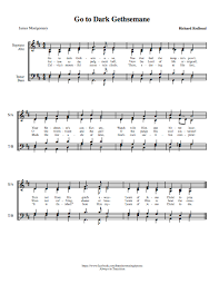 gethsemane sheet music go to dark gethsemane learn how to sing hymns calebhugo com