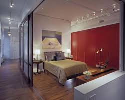 Bedroom With Sliding Glass Doors Offers Privacy When Needed Equipped With  Track Lamp Design Ideas And Sliding Door
