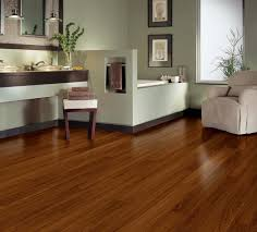 vinyl plank flooring on bathroom walls