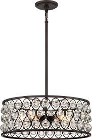 quoizel ax2820pn alexandria contemporary palladian bronze drum pendant lighting loading zoom