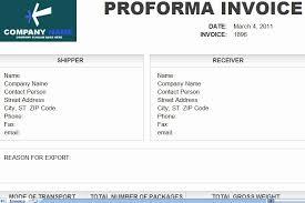 Pro Forma Invoice Template Luxury Downlodable Freeware Pro