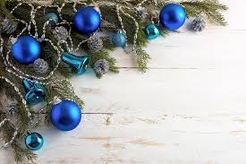 Christmas Background Christmas Background With Silver Pinecone And Blue Ornaments